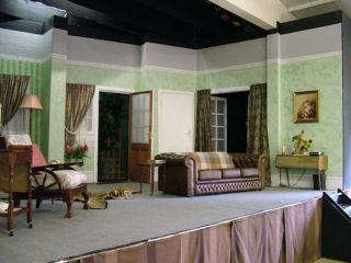 The Stage Set For A Production By The U0027Llanelli Little Theatreu0027